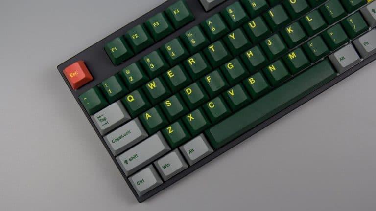 Green Train Cherry Profile PBT Keycaps