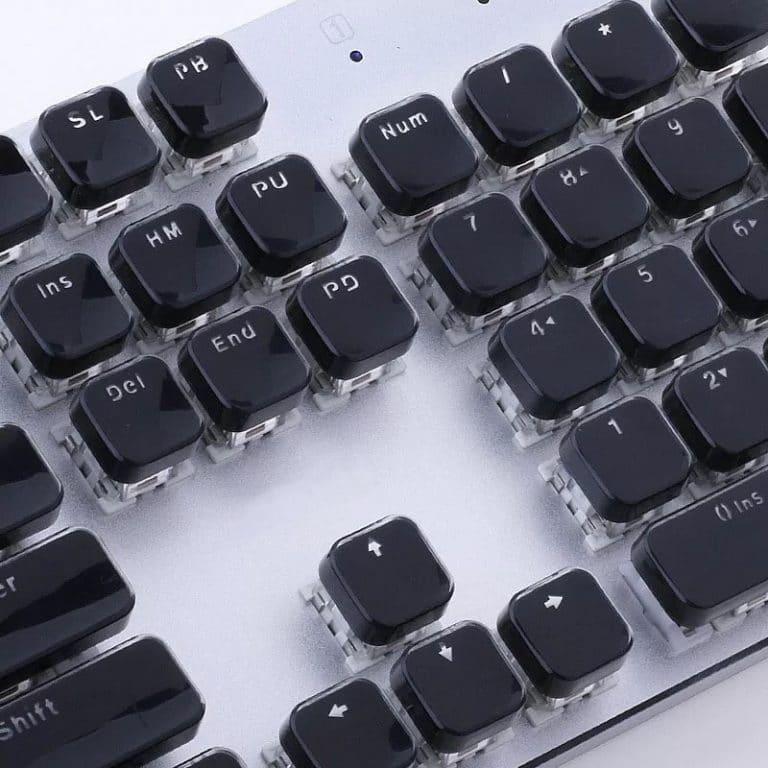 Black Acrylic Keys Closeup