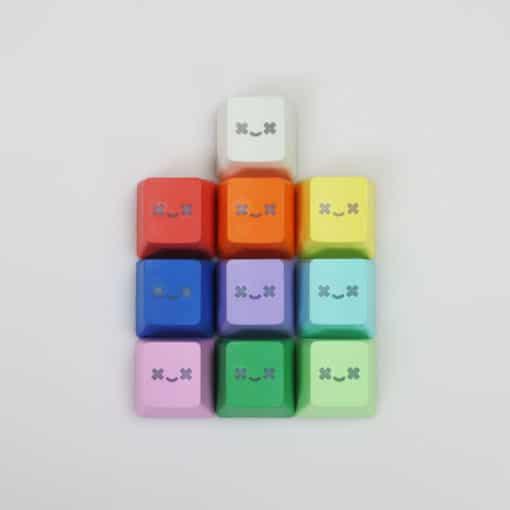 Translucent Smiley PBT Doubleshot Keycaps