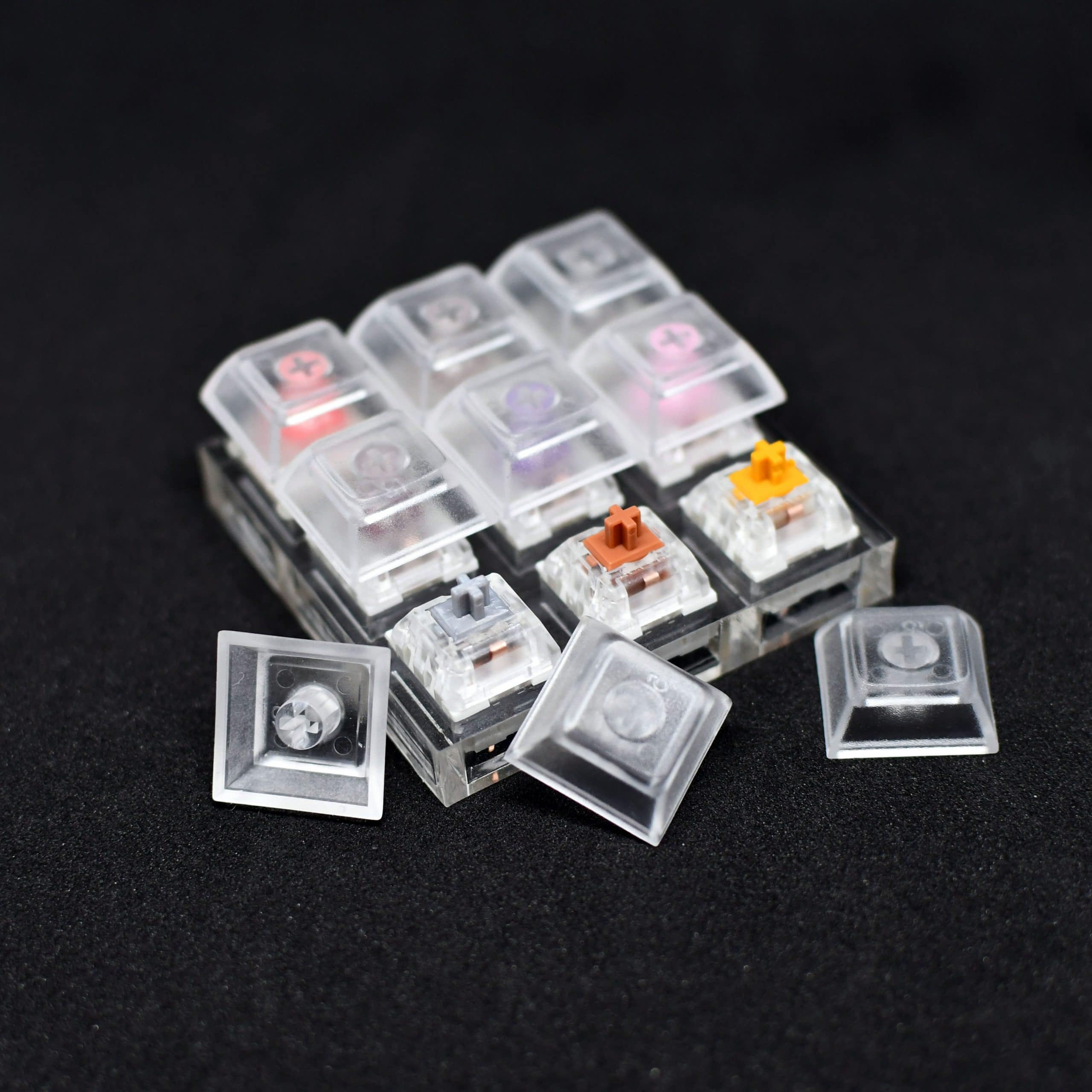 9 Slot Switch Tester with keycaps