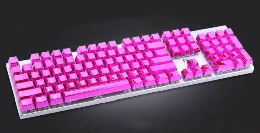 Metallic Pink Electroplated Keycaps