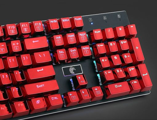 Metallic Red Electroplated Keycaps