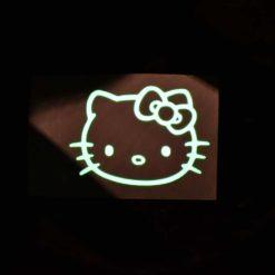 Hello Kitty Glow Decal Dark