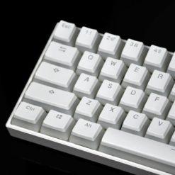 Vanilla Pudding Keycaps White Closeup