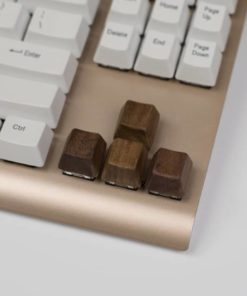 Wooden Arrow Keycaps Close