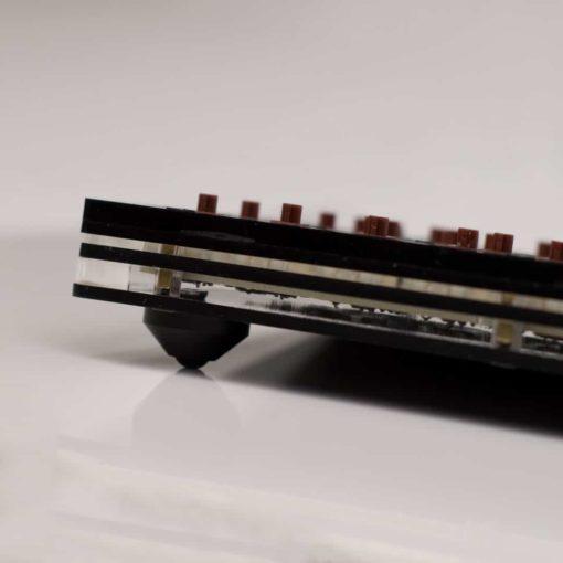 Split 96 Key Keyboard Aluminum Feet Side