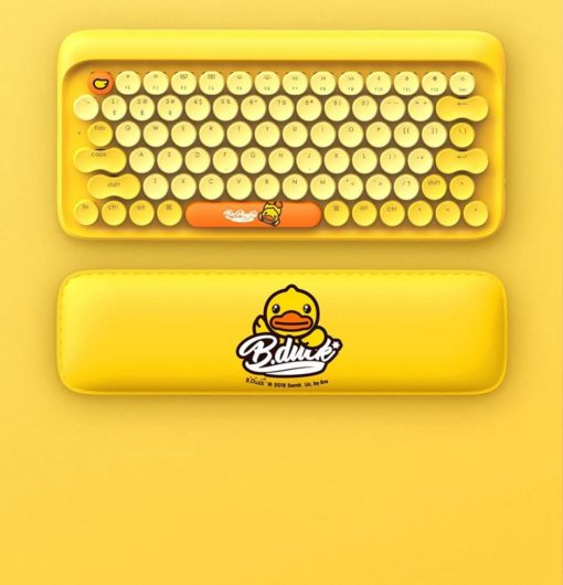 Lofree Bduck Bluetooth Mechanical Keyboard Set Yellow Deskmat