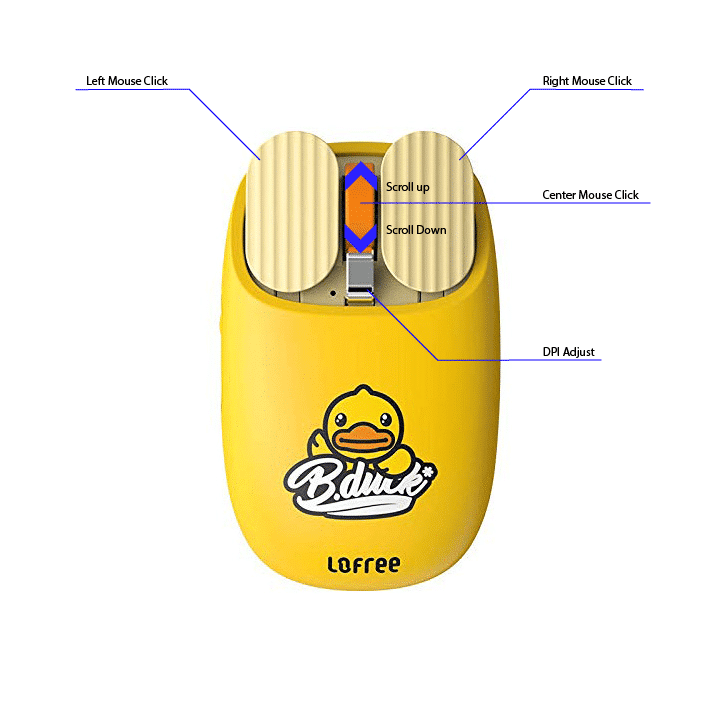 Lofree bduck wireless Mouse Instructions