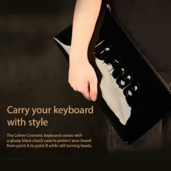 Lofree Cosmetic Keyboard Carrying Clutch Case
