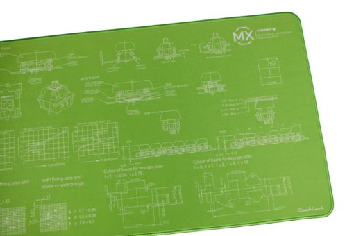 Lime Green Deskmat Right
