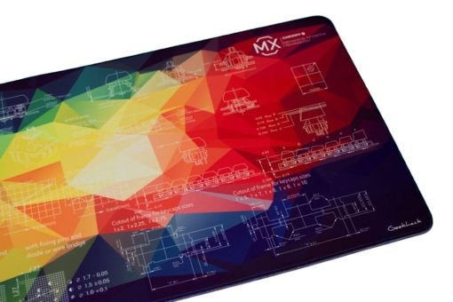 Rainbow Geometric Deskpad Right