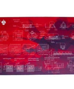 Red Geometric Deskmat Main
