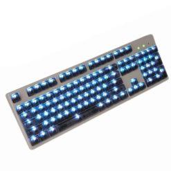 OEM Black Translucent Keycaps LEDs