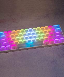 OEM Translucent White Keycaps RGB LEDs