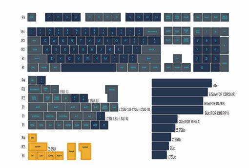 Domikey SA Atlantis Doubleshot Keycaps ABS Mechanical Keyboard 159 keys