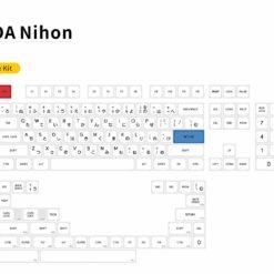 MDA Profile Nihon PBT Dyesub Keycaps Layout