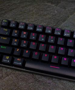 RK71 Black 71 key Mechanical Keyboard Left Profile
