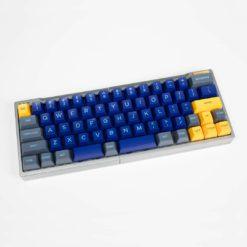 Split 66 Key Keyboard with Hotswap Switches Aluminum Keycaps (1)