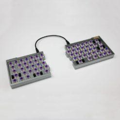 Split 66 Key Keyboard with Hotswap Switches Aluminum Keycaps (2)
