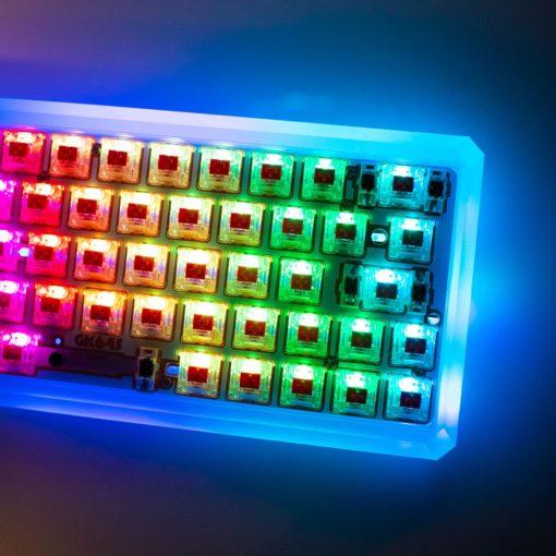 GK64s Bluetooth Mechanical Keyboard Kit RGB Closeup
