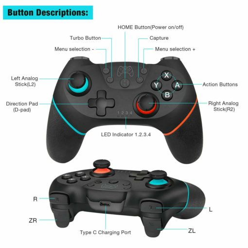 Nintendo Switch Bluetooth Controller 7