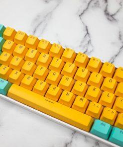 OEM PBT Tropical Punch Translucent Doubleshot Keycaps Close