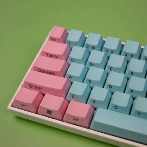 OEM Cotton Candy Side Legend Keycaps Close