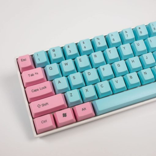 OEM Cotton Candy Top Legend Keycaps Close