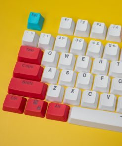 OEM Red Tide Keycaps 104 key set close