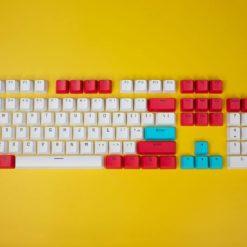 OEM Red Tide Keycaps 104 key set full