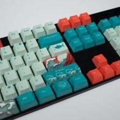 OEM Coral Sea Dye Sublimated Keycaps Enter close
