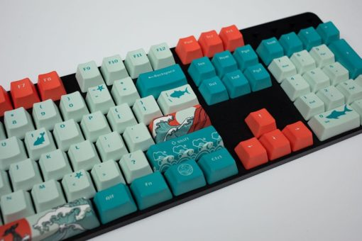 OEM Coral Sea Dye Sublimated Keycaps Enter close
