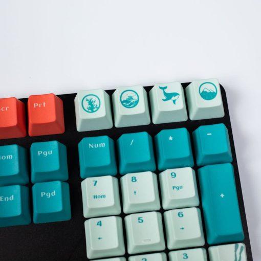 OEM Coral Sea Dye Sublimated Keycaps Novelty Keys