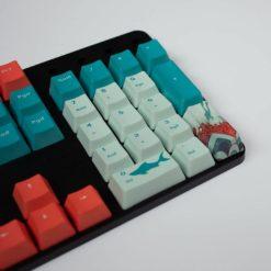 OEM Coral Sea Dye Sublimated Keycaps Numpad close