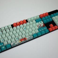 OEM Coral Sea Dye Sublimated Keycaps Profile
