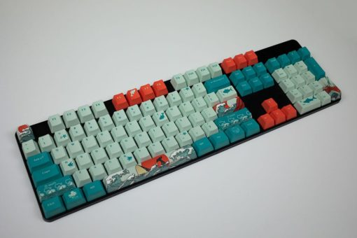 OEM Coral Sea Dye Sublimated Keycaps Profile