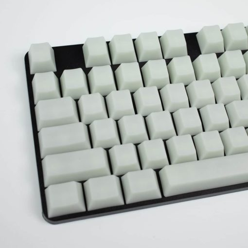POM Jelly White Keycaps