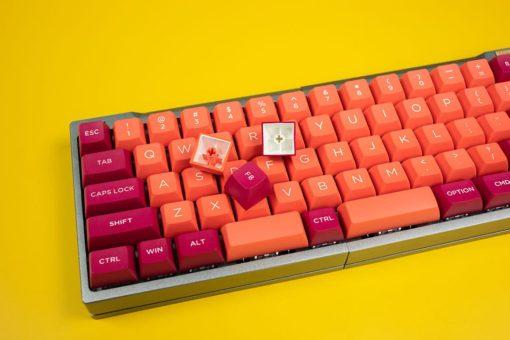 OSA Profile Doubleshot Molten Lava Keycaps Back