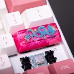 Dragons Den Pink Artisan Keycap SA Profile