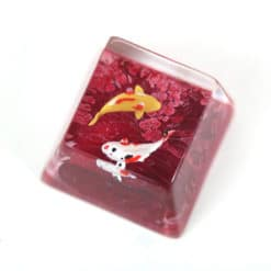 Koi Artisan Keycap Dark Red