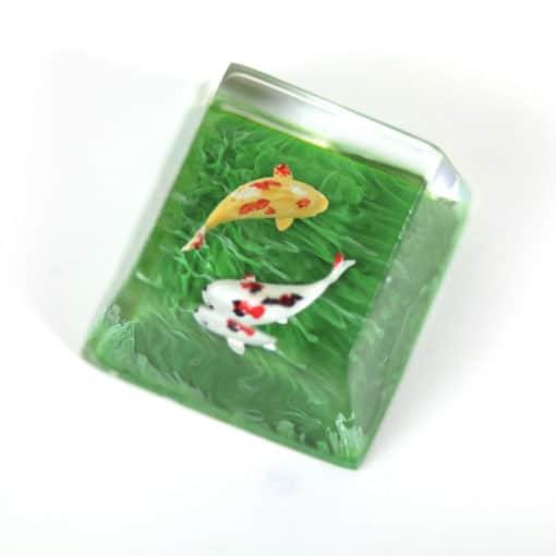 Koi Artisan Keycap Green