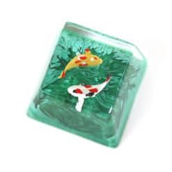 Koi Artisan Keycap Jade