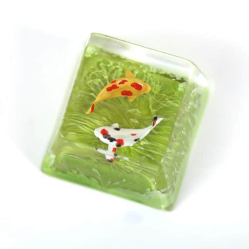 Koi Artisan Keycap Lime Green