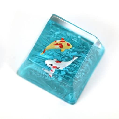 Koi Artisan Keycap Turquoise