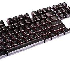 Electroplated Black Keycaps Full Set 104 Keys