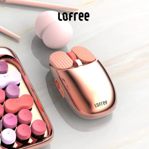 Lofree Wireless Mouse Rose Gold Main