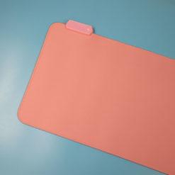 Pink RGB LED Deskmat Left