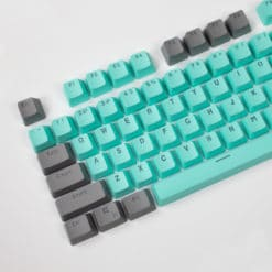 Gray on Teal OEM Translucent Keycaps Main