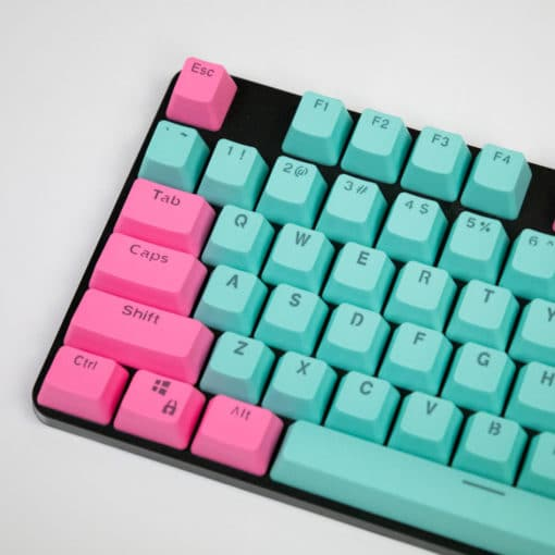 OEM Miami Vibes Pink On Teal Translucent Keycaps Main