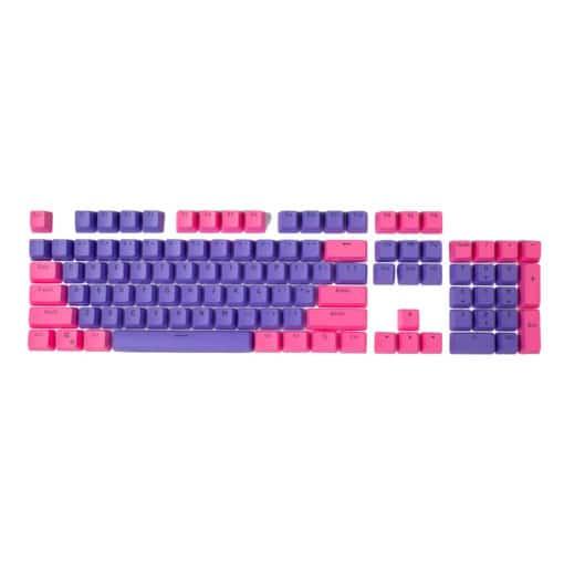 Pink on Purple OEM Translucent Keycaps Full